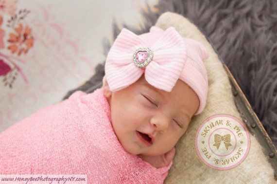 532545ef3 Baby girl hat, girl hat, Christmas baby hat, pink baby hat, newborn ...