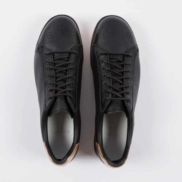 4d785728a4c Paul Smith Women s Black Leather  Rabbit  Trainers With Gold Trims ...
