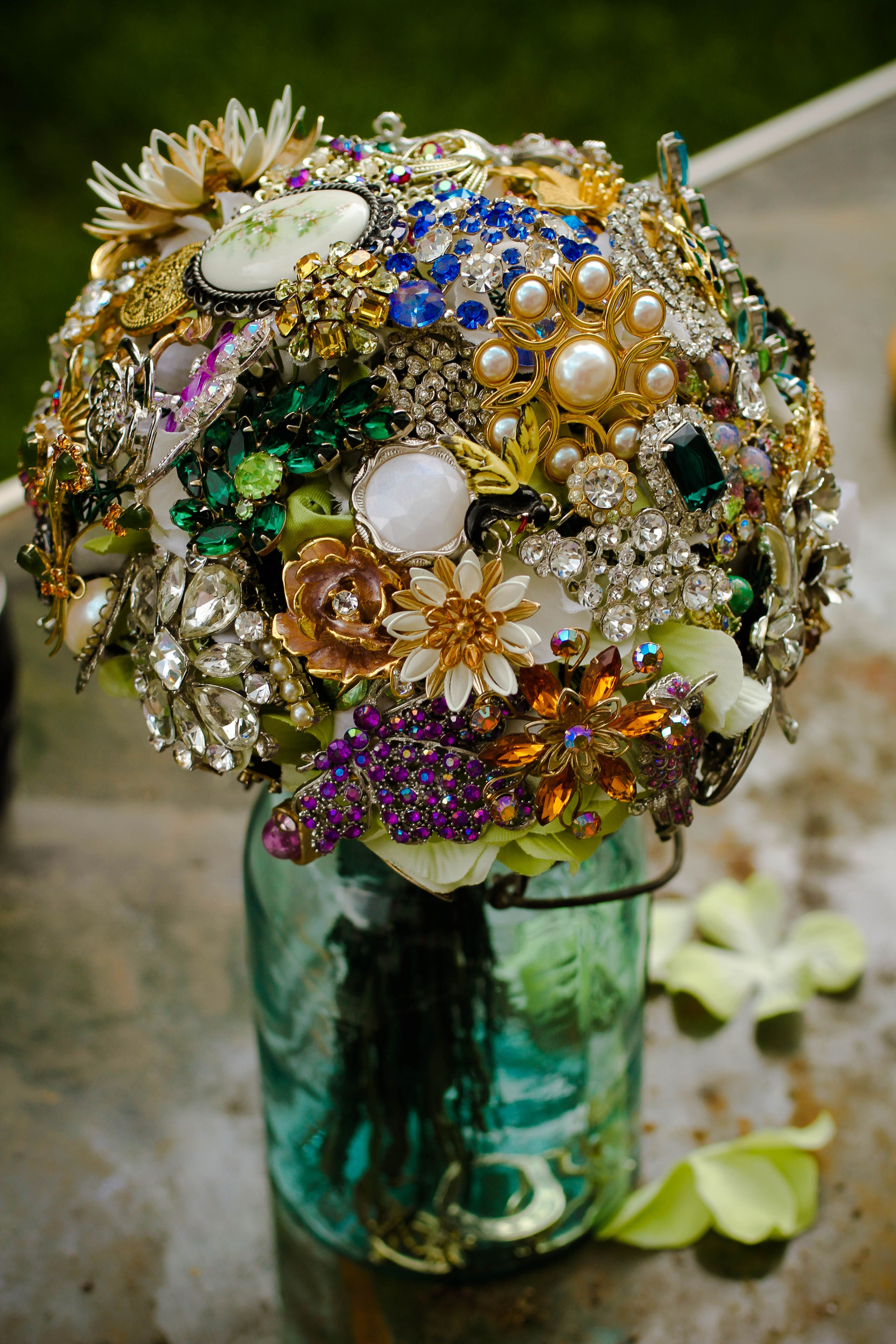 Brooch Bouquet. There are lots of DIY tutorials for making ...