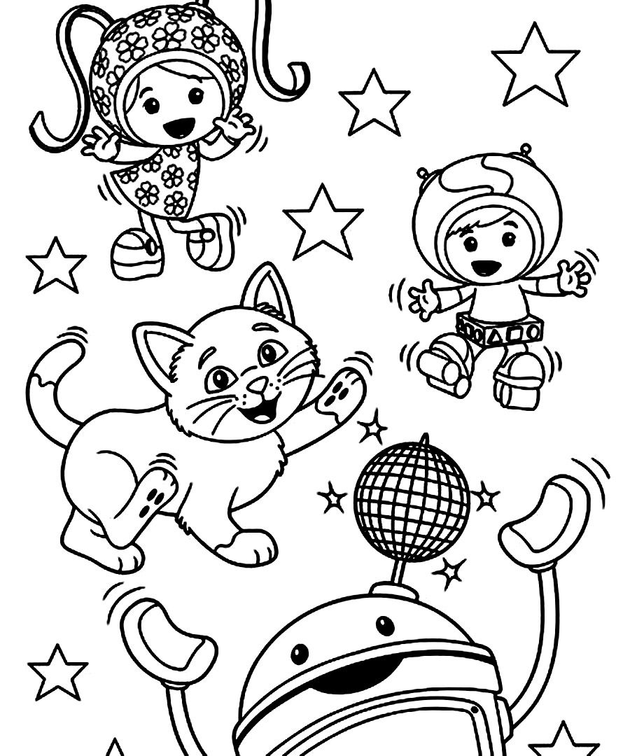 Team Umizoomi Coloring Pages For Kids 900×1080 Kids