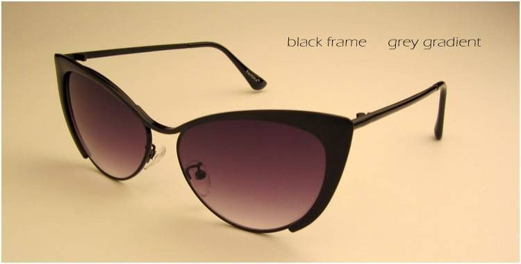 Ladies- Cat Eyes Style Sunglasses - 7 Color Options