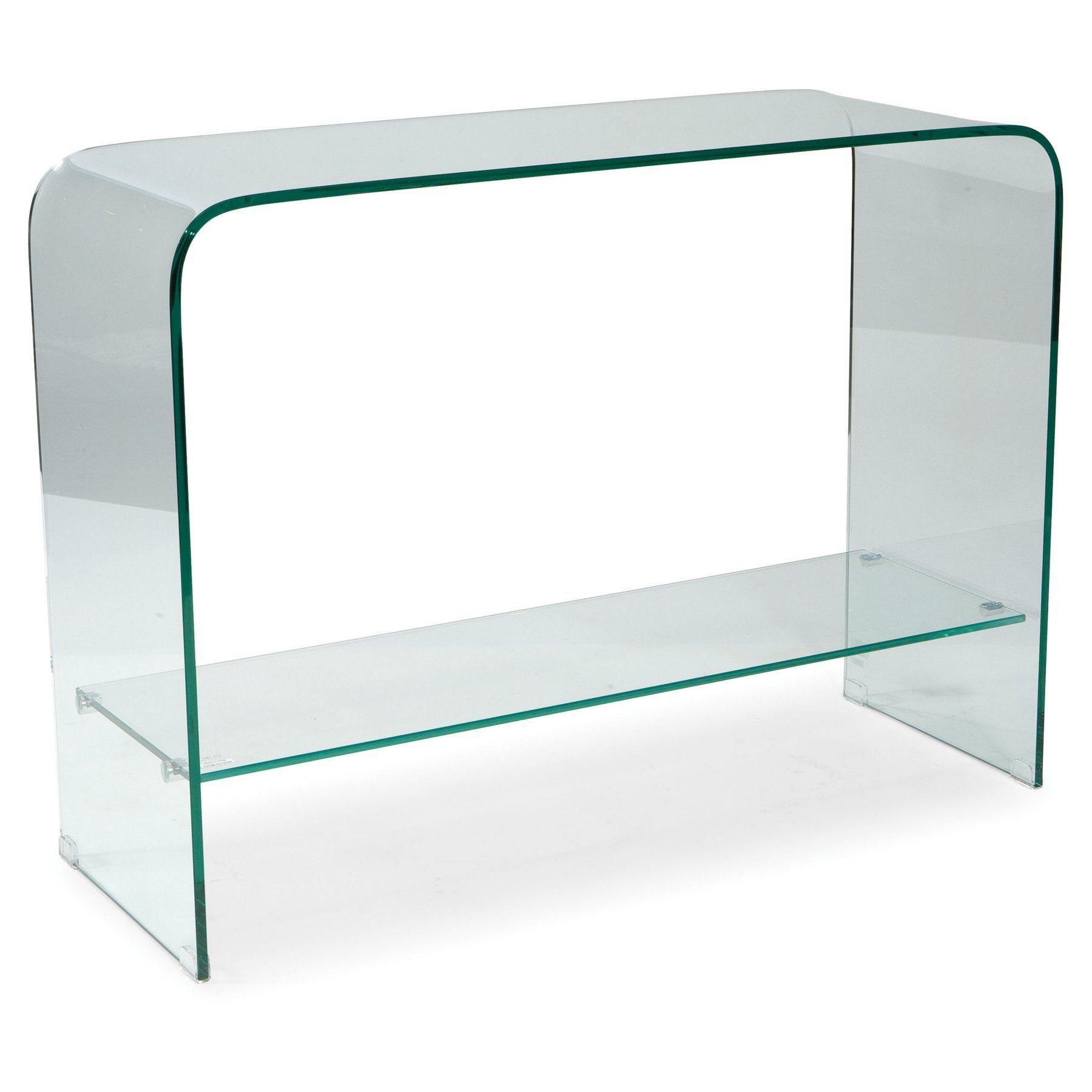 Glass console table decor  Moeus Home Collection Sono Glass Console Table  Clear  HI