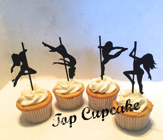 Pole Dancing Inspired Cupcake Toppers 12