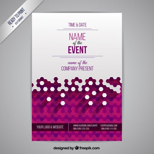 Event poster Free Vector Graphic Design Pinterest Brochures - Business Event Invitation