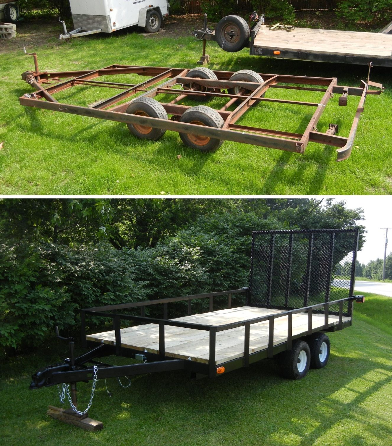 how to make a tandem trailer