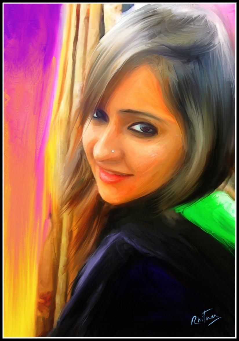 arushi digital apinting - Digital Art by Rhitam Das in My Projects at touchtalent