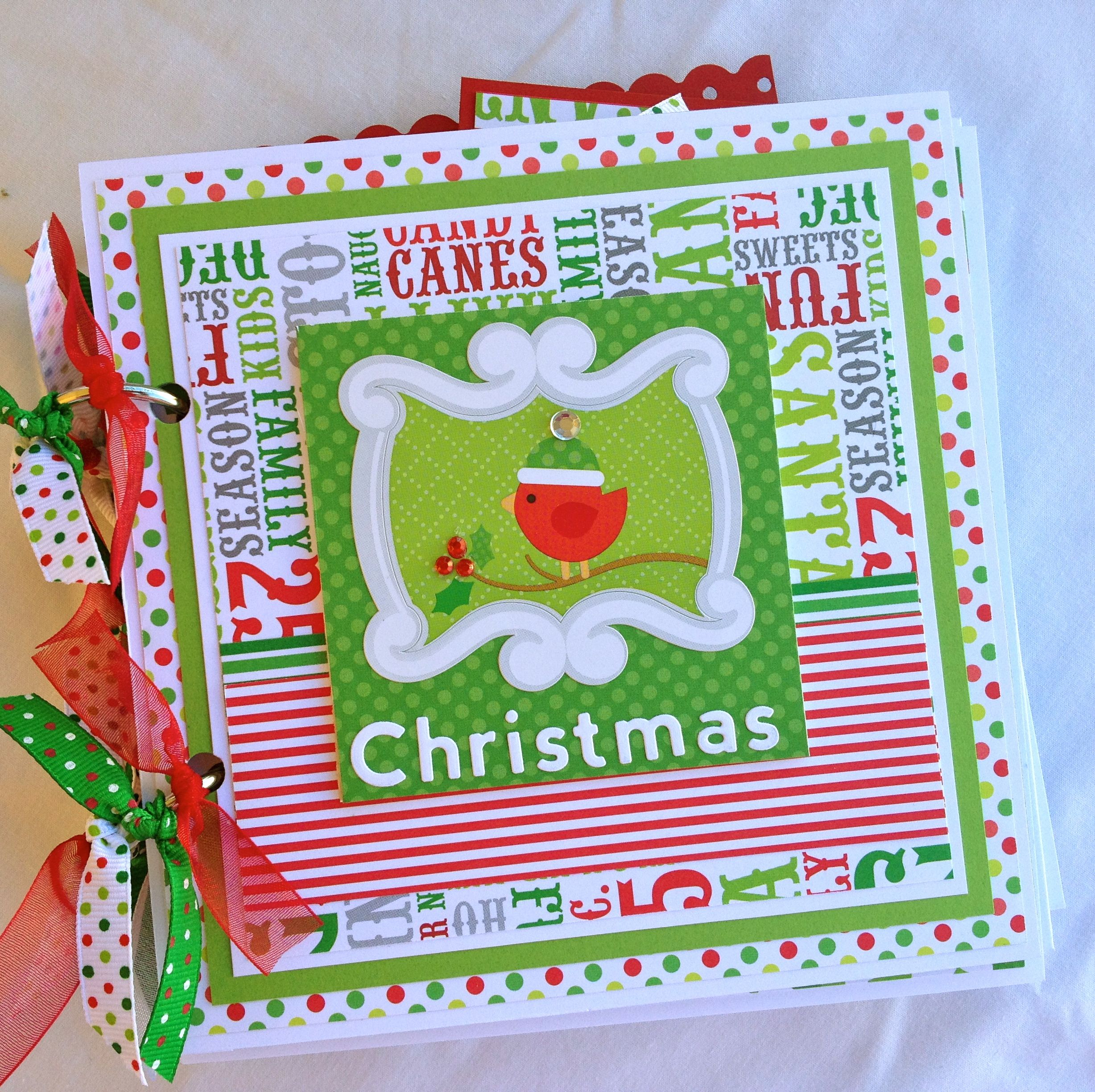 Doodlebug Christmas Mini Album North Pole - Scrapbook.com
