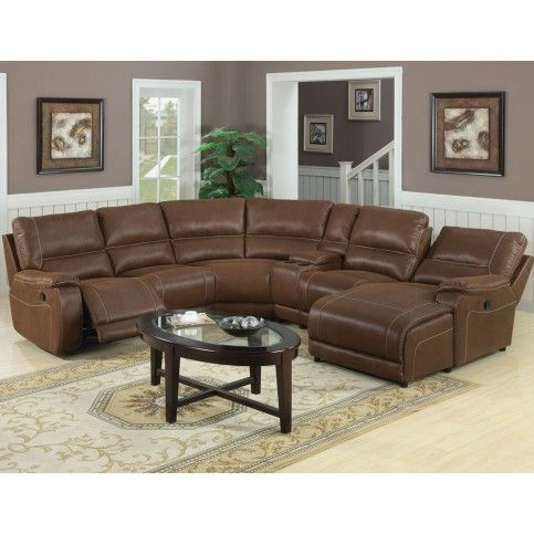 Loukas Reclining Microfiber Sectional With Images Sectional Sofa With Recliner Large Sectional Sofa Sectional Sofas Living Room