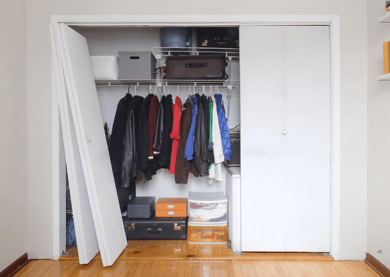DIY: Bye Bye Bi Fold Closet Doors. Hello Space Saving Slider