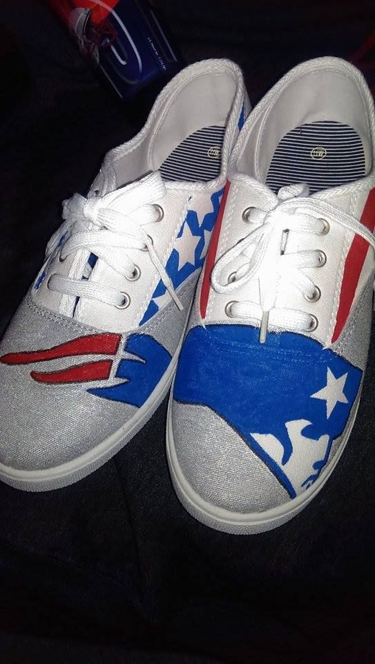 Hand-drawn Patriots sneakers  276edf27a