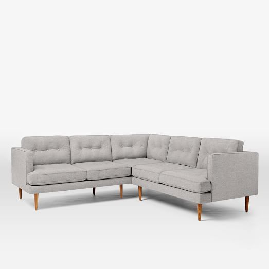 Peggy Mid Century L Shaped Sectional West Elm Furniture