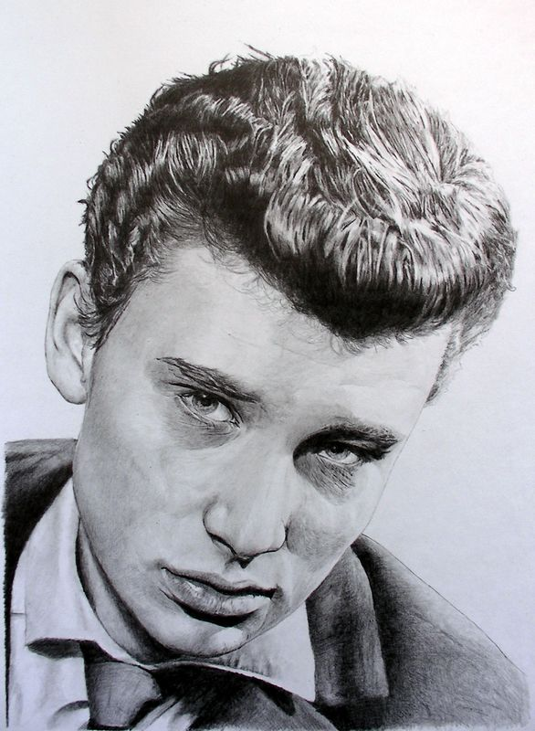 Johnny Hallyday Manvale Dessins Portraits A Partir De Photos