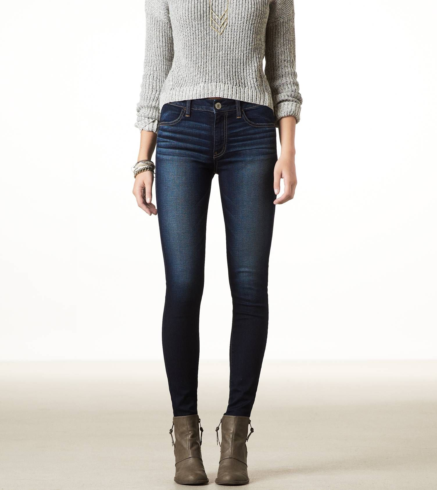 Bought 2 pairs of these today. AE's high rise jeggings are so comfy and fit perfectly!