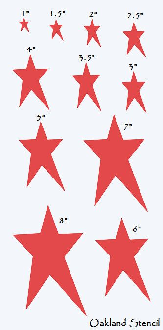 Primitive Star STENCIL With 11 Total Sizes 18 OaklandStencil