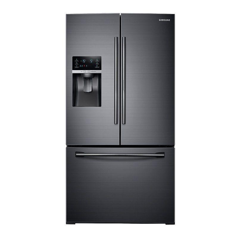 Samsung 28 Cu Ft 3 Door French Door Food Showcase Refrigerator Rf28hded French Door Refrigerator French Doors Refrigerator Prices