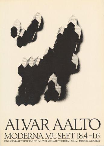 Alvar Aalto. Moderna Museet, Tukholma, Ruotsi, 18.4.-1.6.1969