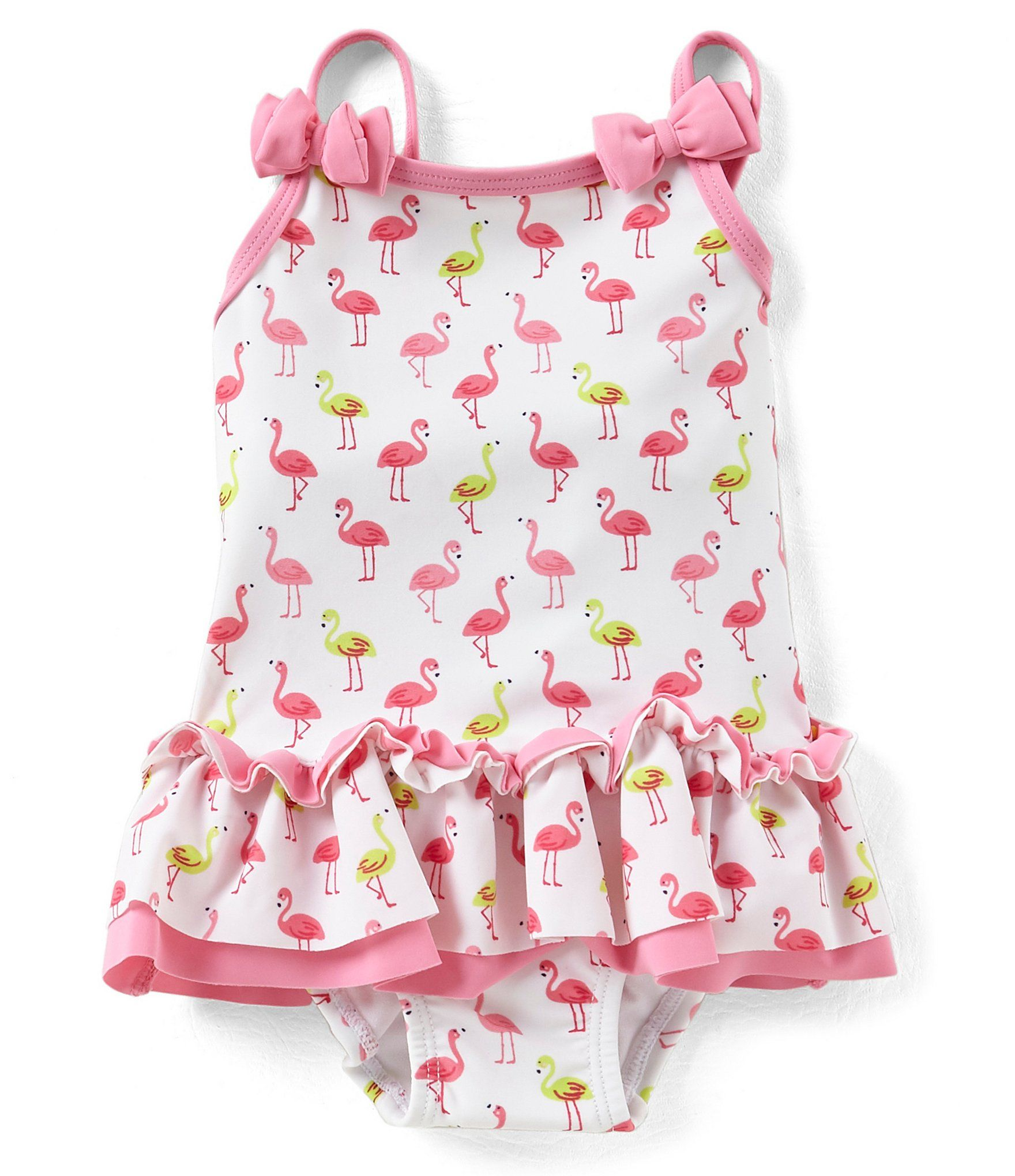 d4606cbc9 Little Me Baby Girls 624 Months Flamingo Skirted OnePiece Swimsuit ...