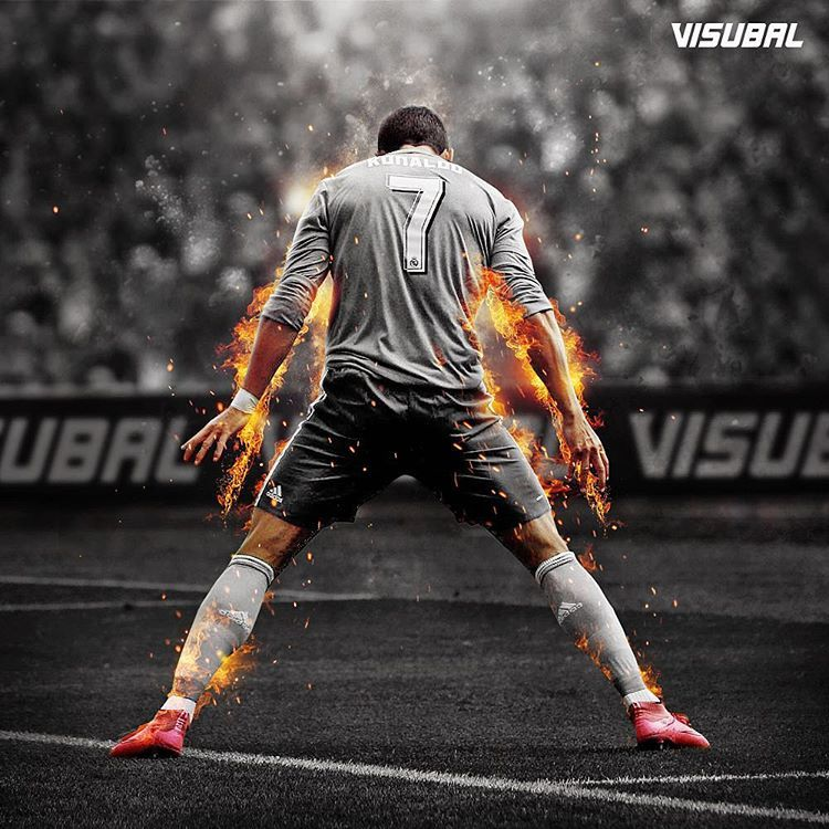 "Cristiano Ronaldo Wallpaper: ""@Cristiano #Ronaldo Is On Fire! #HattrickHero #Visubal"