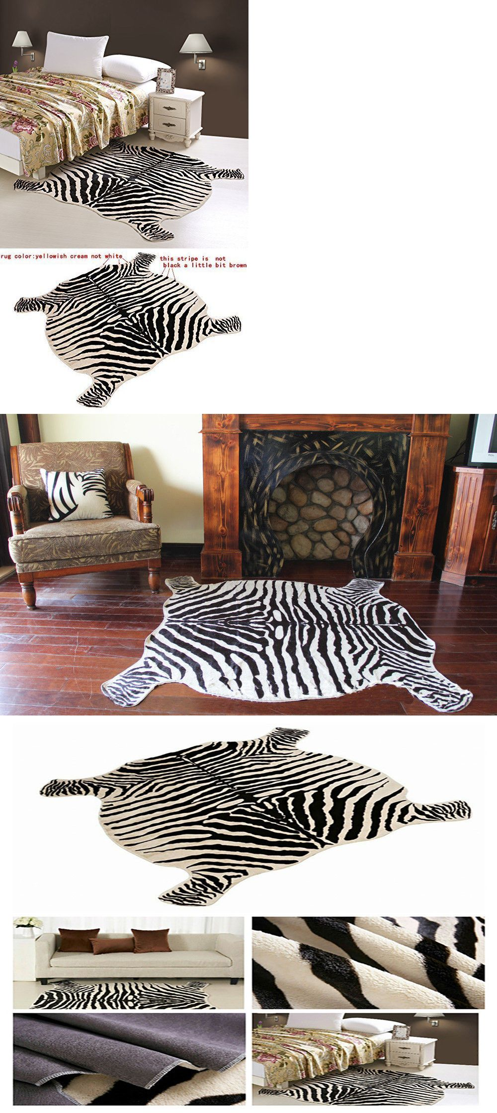 Leather Fur And Sheepskin Rugs 91421 Large Cowhide Rug Faux Zebra Cow Hide Carpet Home 4 8x4 9 Feet Anima Large Cowhide Rug Faux Cowhide Rug Zebra Cowhide Rug