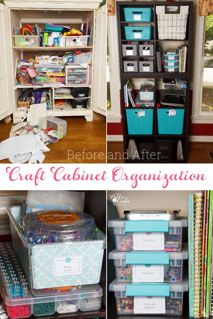 8 Kids Storage And Organization Ideas: Craft Cabinet Organization Ideas