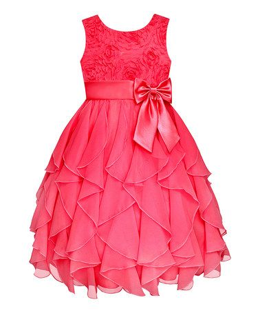 8c3593444983 Take a look at this Coral Rosette Cascade Dress - Girls  Plus by American  Princess on  zulily today!
