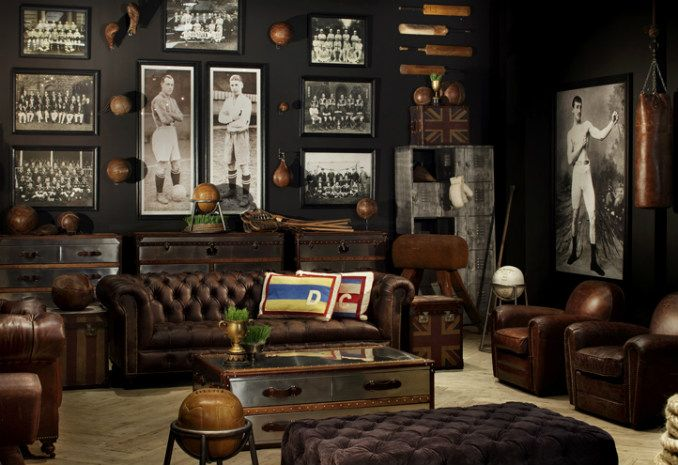 Man Cave Vs Study : Antique inspired furniture for men by timothy oulton