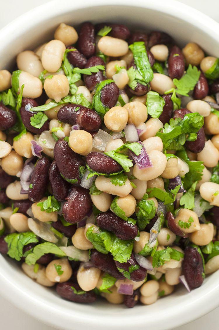 Cilantro Lime Three Bean Salad Recipe Bean Recipes Bean Salad Recipes Spring Salad Recipes
