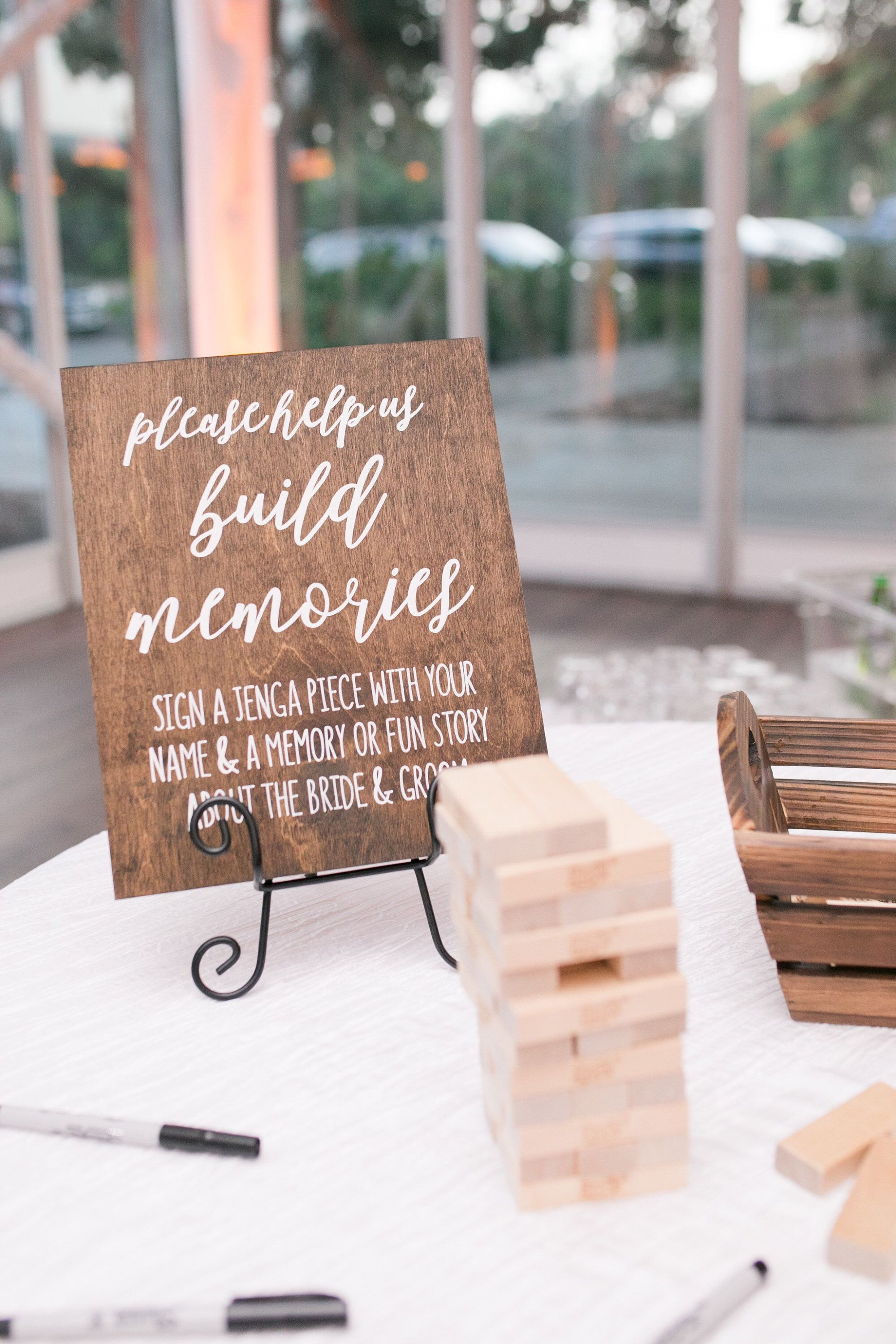 Jenga Guest Book Sign Rustic Wedding Signs Wooden Wedding Signs Help Us Build Memories Wedding Gues Jenga Wedding Jenga Guest Book Rustic Wedding Signs