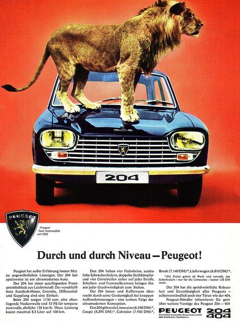 Peugeot 204 - adv (1967)