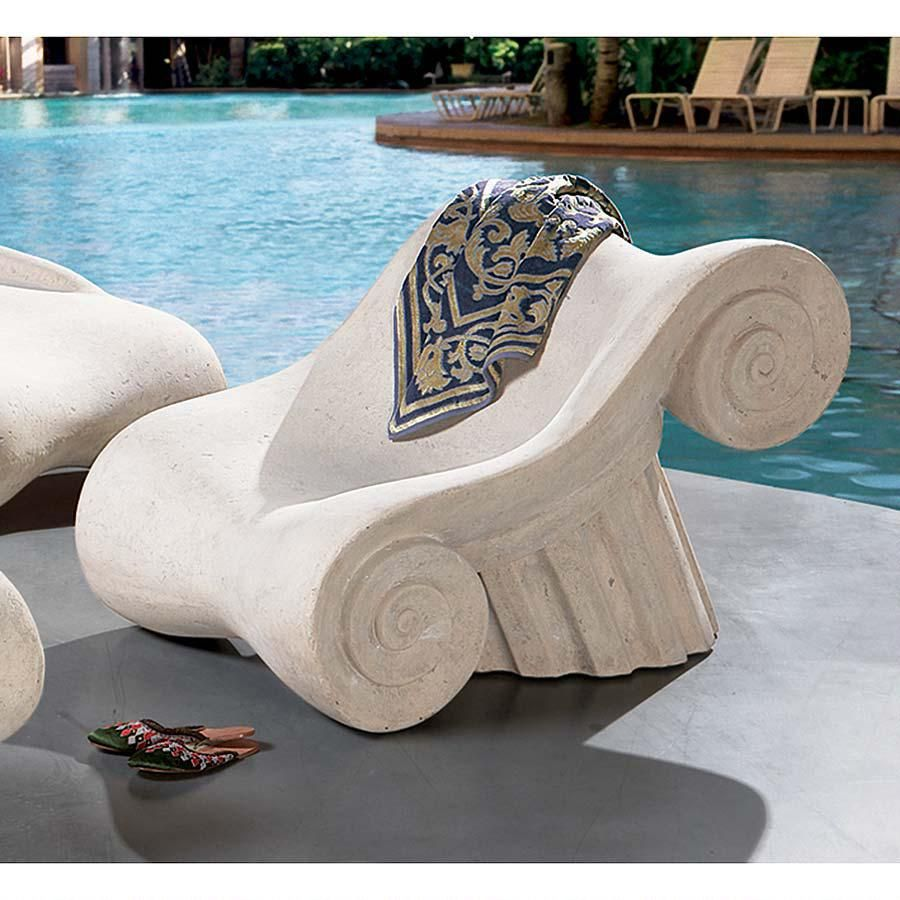 Furniture rome ancient roman furniture chairs it is a chair with - Hadrians Villa Roman Spa Furniture Collection Masters Chair With A Design Inspired By The Columns Of Greece The Hadrian S Villa Roman Spa Furniture