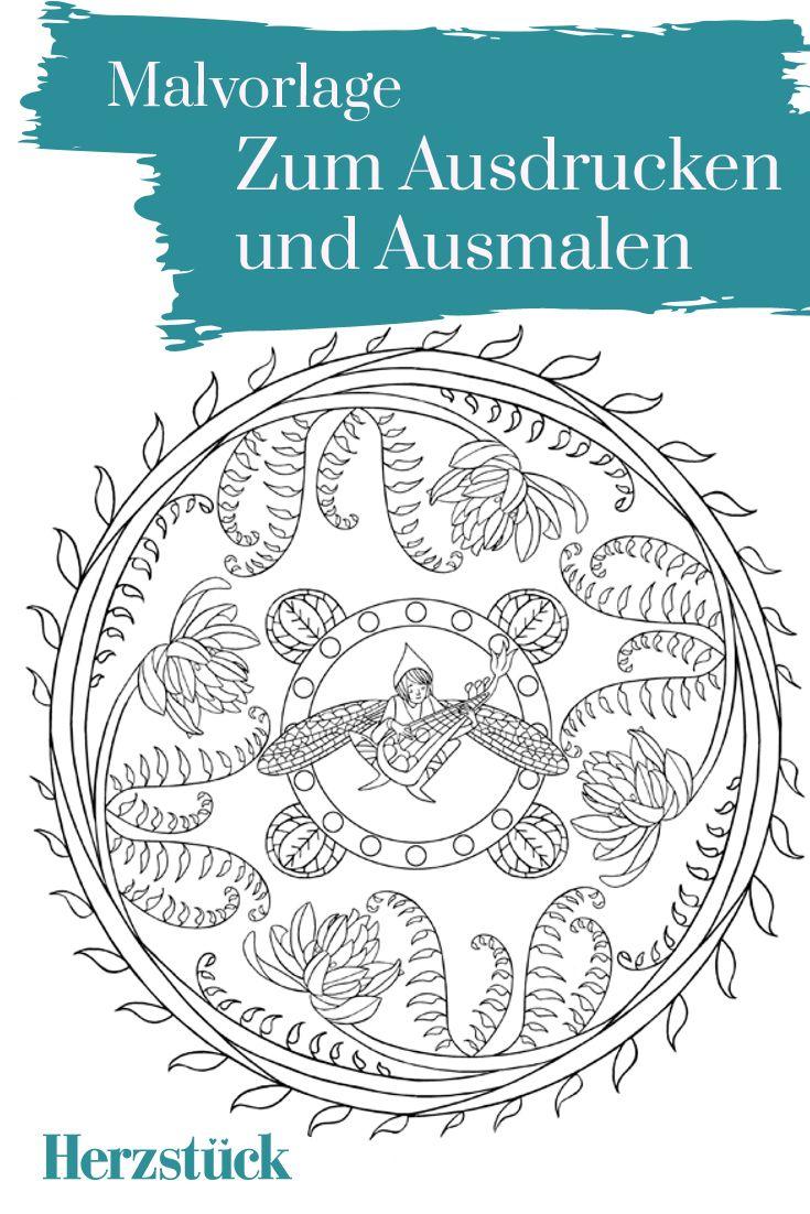 Musik der Natur: Malvorlage aus dem Herzstück-Malbuch \