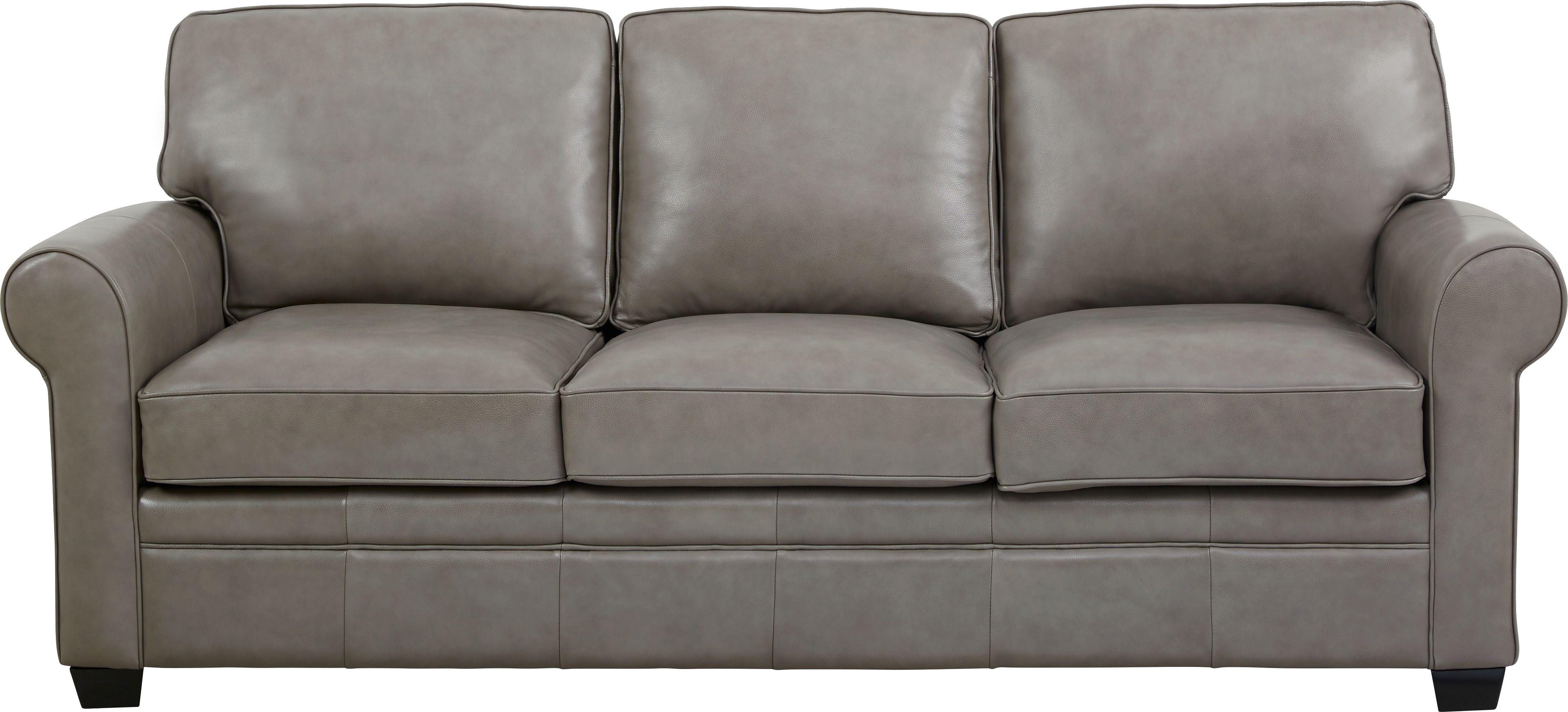 Nikola Place Gray Leather Sleeper Grey Leather Sofa Sofa Leather Sofa