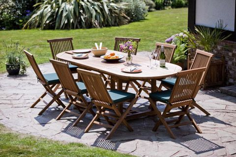 Furniture  Teak Dining Set Oval Table And 8 Chairs Furniture In The Park  Teak Wood Furniture For Sale Teak Wood Furniture Care Teak Wood Patio  Furniture How. Pickering Teak Garden Furniture Set   Hunters of Yorkshire