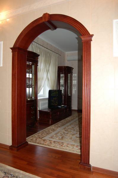Arco para sala puertas principales de madera molduras marcenaria casas - Molduras para puertas ...