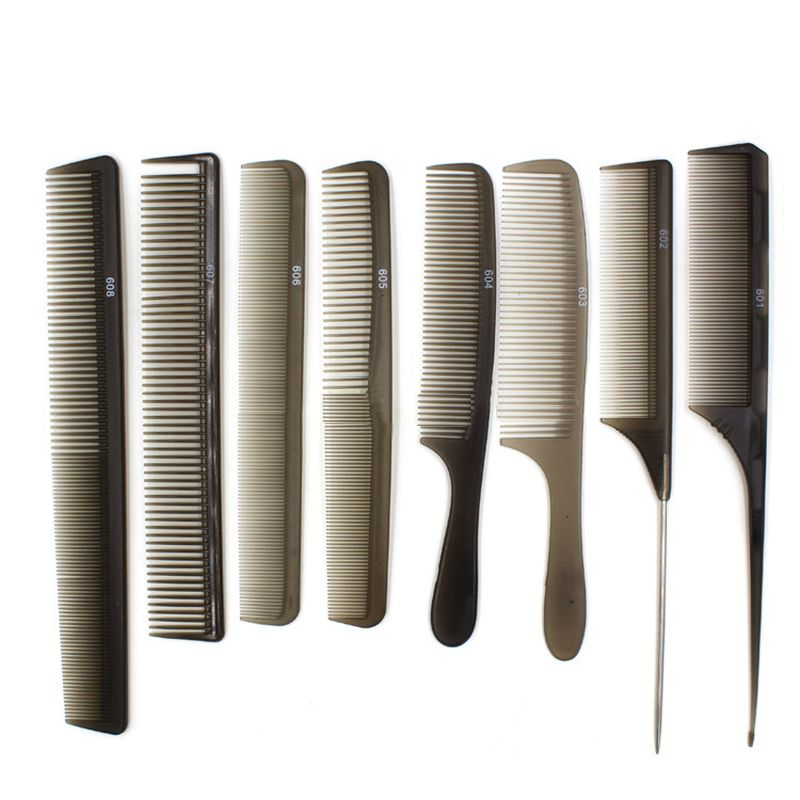 Professional Salon Black Hair Styling Hairdressing Cutting Plastic Barbers Brush Combs M03146 Affiliate