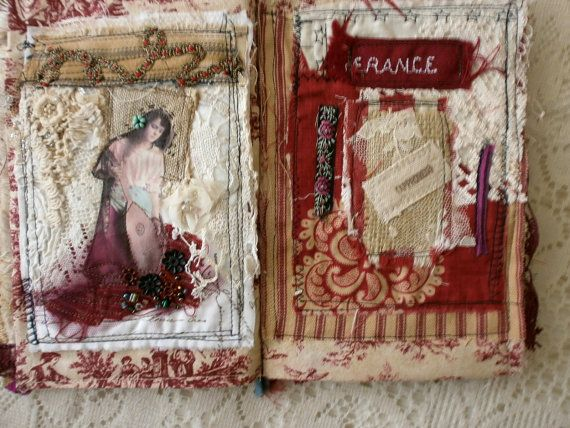 Moulin Rouge journal | art textile | Fabric journals ...