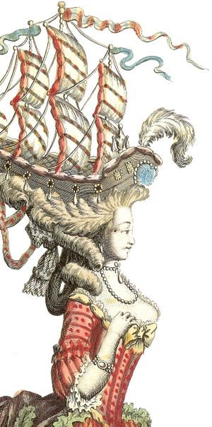 France 18th Century Wig With Ship Hair In 2019 Rococo