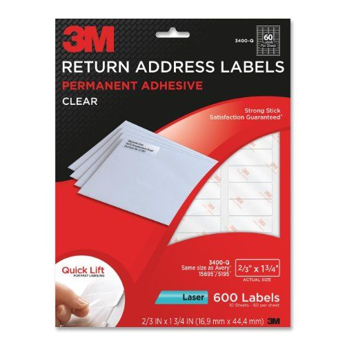 Buy It Now 3m Return Address Labels With Quick Lift Design For Laser