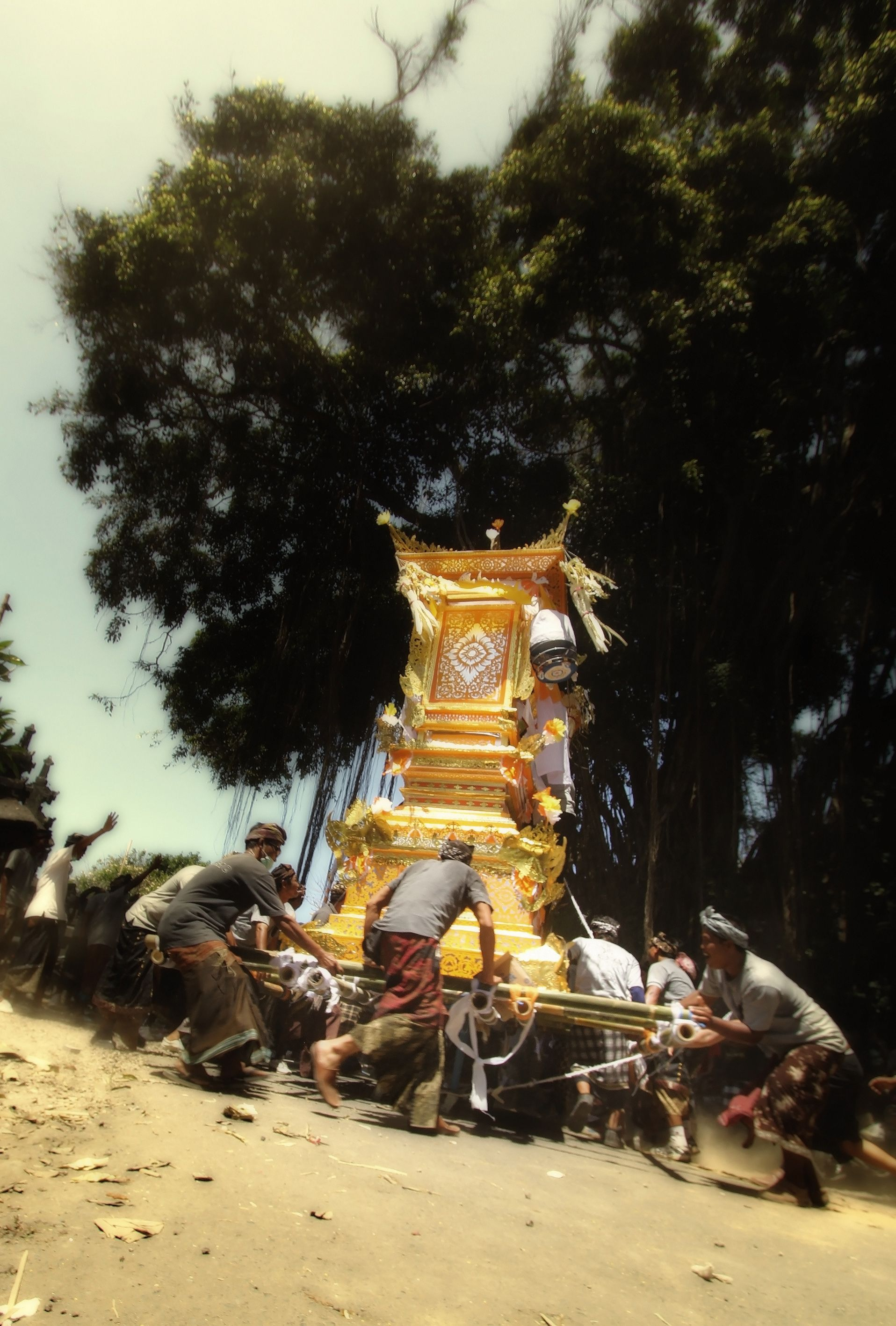 """""""Ngaben, a Unique and Meaningful Balinese Cremation Ceremony""""  So happy that we can witness a grand ceremony of Ngaben on 9 September 2013. The ceremony is not too far from Anapuri Villas where the guest can see and feel the sacred of Ngaben."""