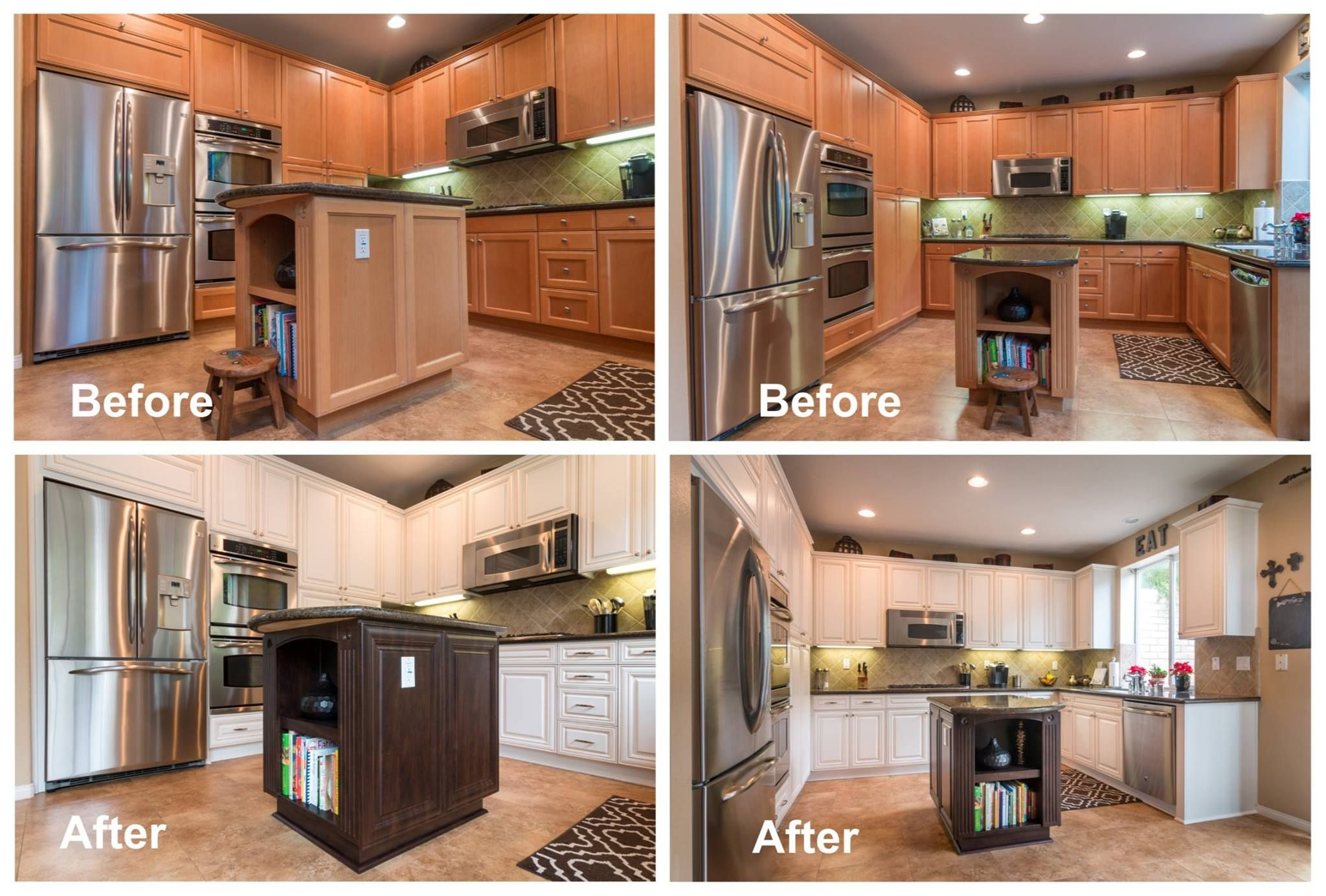 Kitchen Cabinet Refacing...Before and After   Refacing ...