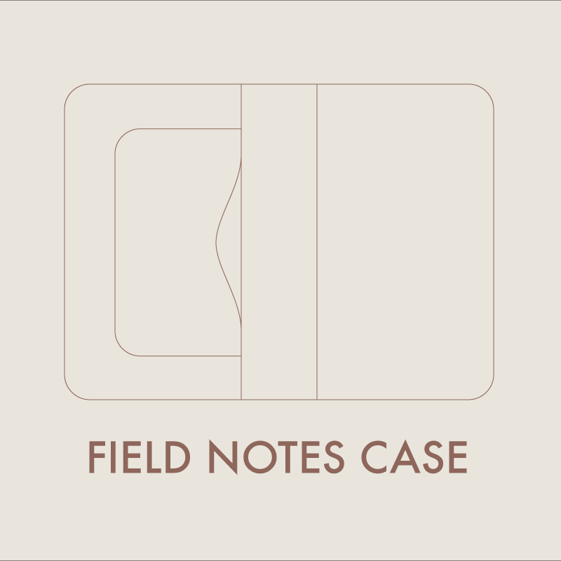 Leather Field Notes Case Digital Template  X   Fields