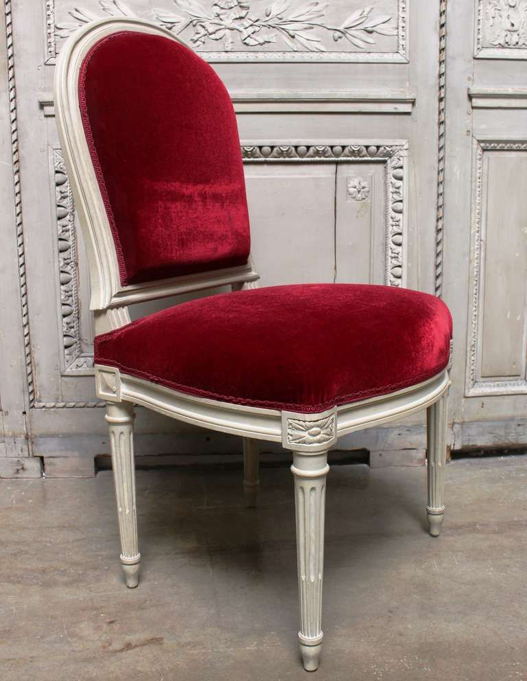 Twelve French Louis XVI Style Large Scale Dining Room Chairs