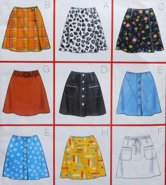 Short Skirt Sewing Pattern Uncut Butterick 5014 Sizes 6 10 Skirts