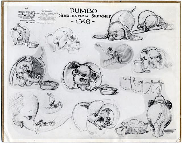 Disney Character Design Apprentice : Past creative disney dumbo animation model sheet