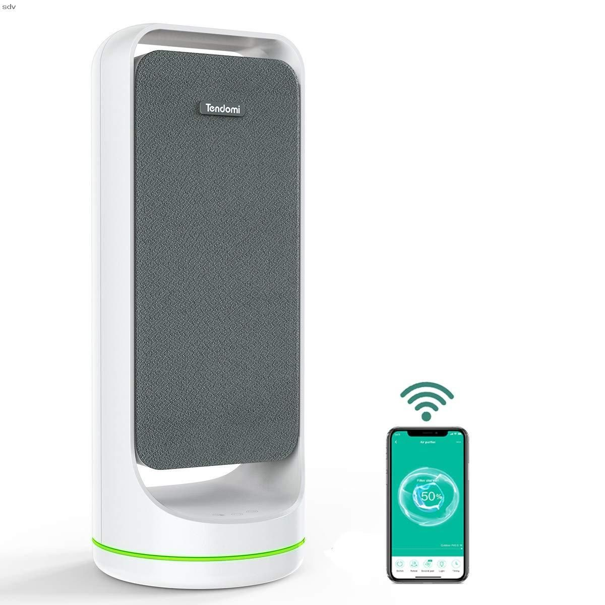 Tendomi Wifi Smart Air Purifier With True Hepa Fan Air Purifiers For Home Bedroom Office Dual Fan Quiet Air Cleaner For Pet Dust Allergies Timer Amp Sche Di 2020