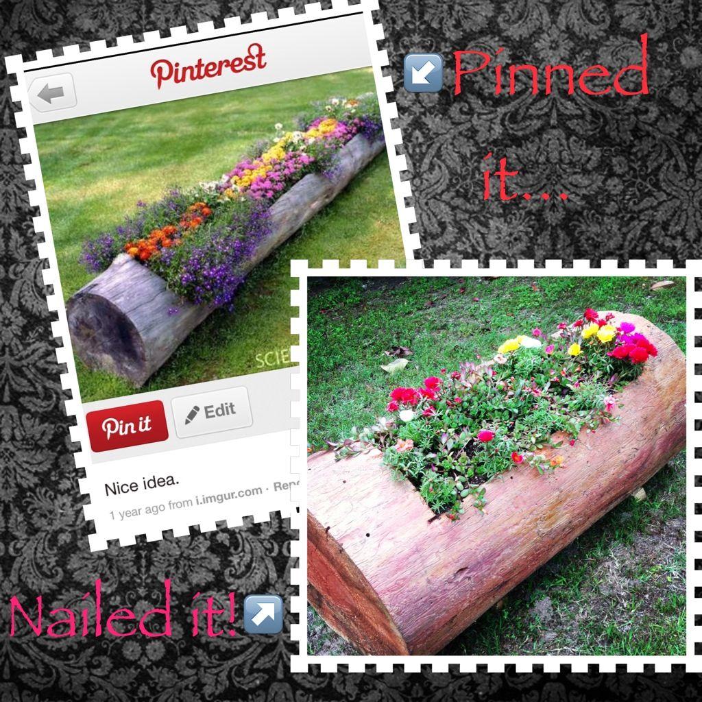 Found This Log Idea On Pinterest!