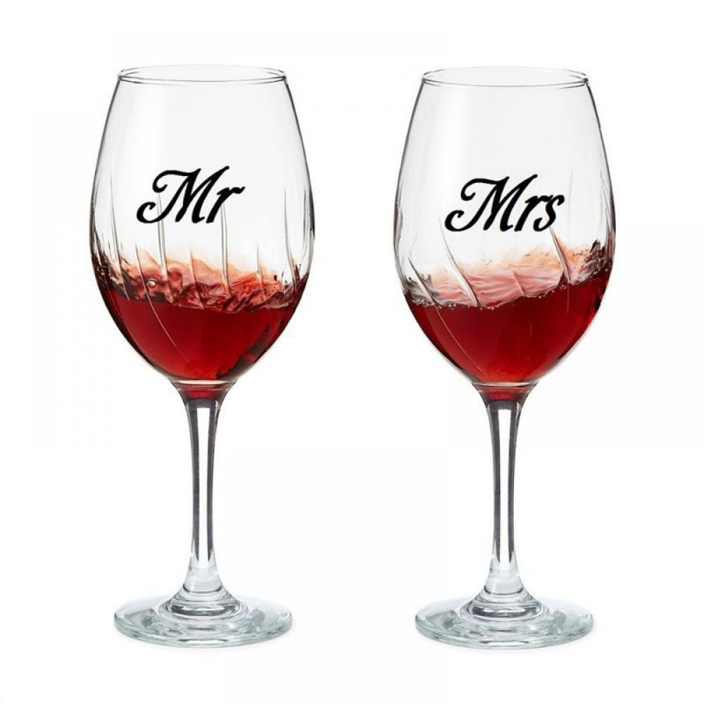 3 Pairs Mr And Mrs Wine Glass Stickers Set Bar Opener In 2020 Wine Glass Wedding Decal Glass Jars
