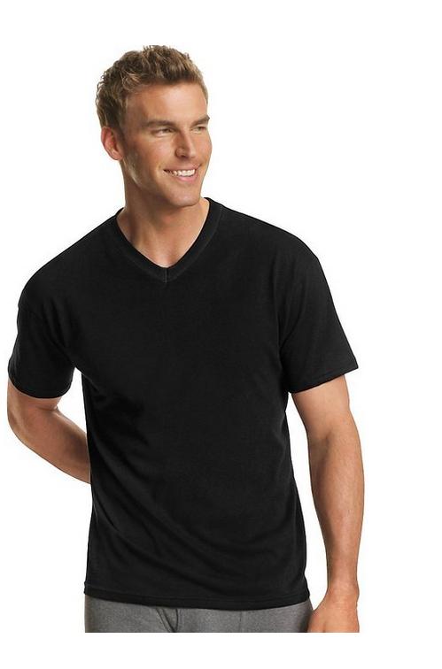 2b604929 Hanes Men's Dyed ComfortSoft® TAGLESS® V-Neck Undershirt 4-Pack - 7765AS