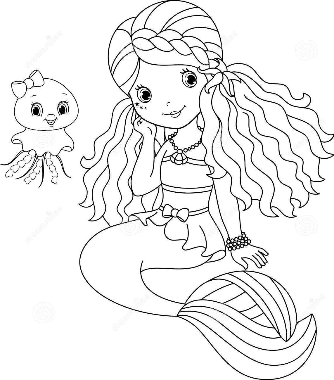 Dreamstime Com Mermaid Mermaid Coloring Book Mermaid Coloring Pages Ariel Coloring Pages