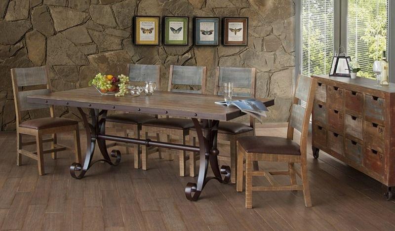 Antique Rustic Dining Room Set